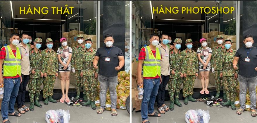 Việt Hương khoe ảnh photoshop không hề giả trân khi đứng cạnh các chú bộ đội